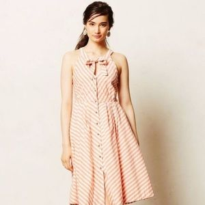 Color siete daylily striped sun dress anthropology